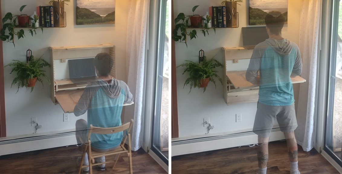 wesk standing desk for small spaces
